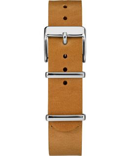 18mm Slip Thru Leather Strap 2 Tan large