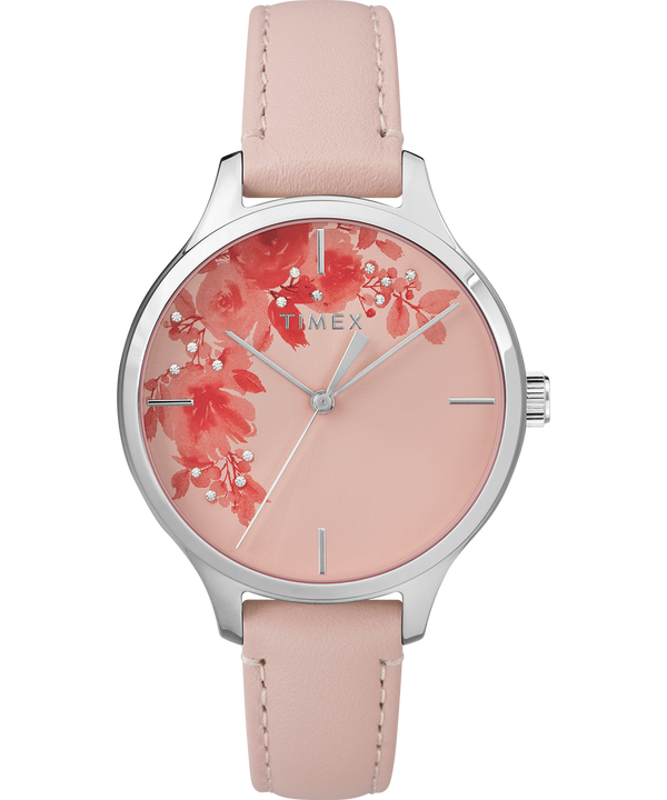 Crystal Bloom with Swarovski Elements 36mm Leather Watch  large