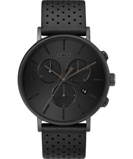 Fairfield Supernova 41mm Leather Strap Watch Black/Black large