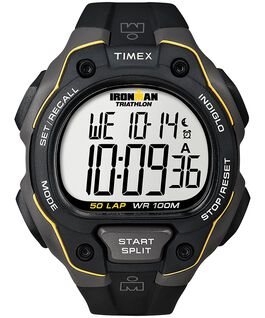 IRONMAN Classic 50 Full-Size 43mm Resin Strap Watch Gray/Black large