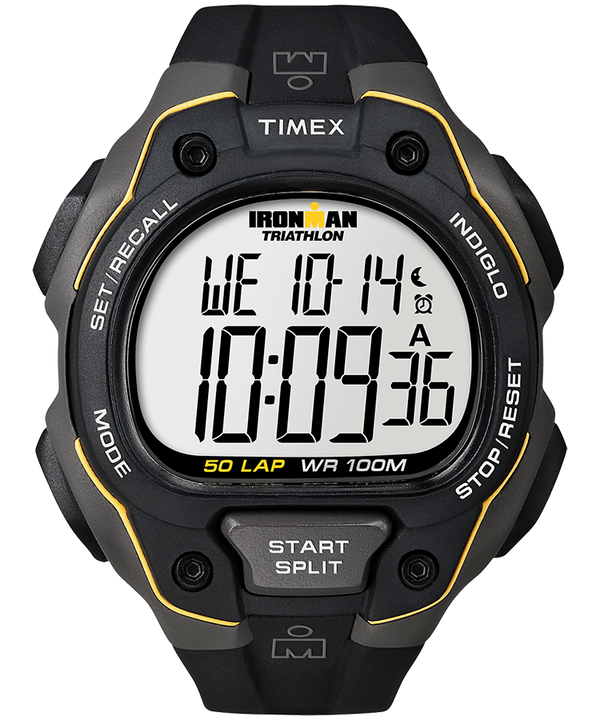 IRONMAN Classic 50 Full-Size Resin Strap Watch Gray/Black large