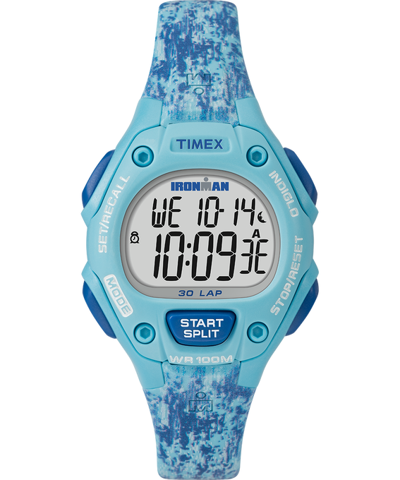 IRONMAN Classic 30 Mid-Size 34mm Resin Strap Watch Blue large