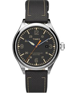 Waterbury Traditional 40mm Fabric Strap Watch Stainless-Steel/Black large