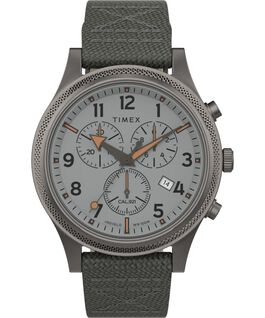 Allied LT Chronograph 42mm Fabric Strap Watch Silver-Tone/Gray large