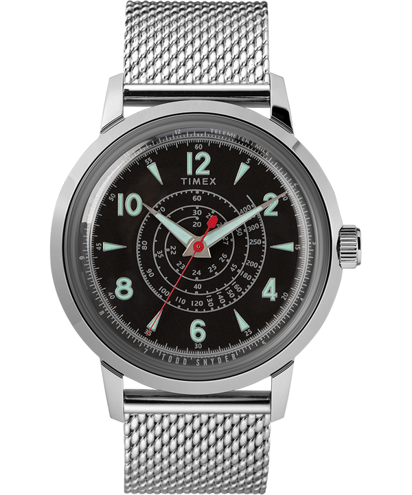Timex x Todd Snyder Beekman 40mm Stainless Steel Mesh Band Watch  large