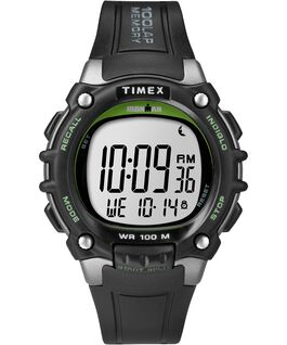 IRONMAN Classic 100 Full-Size Resin Strap Watch Silver-Tone/Black/Green large