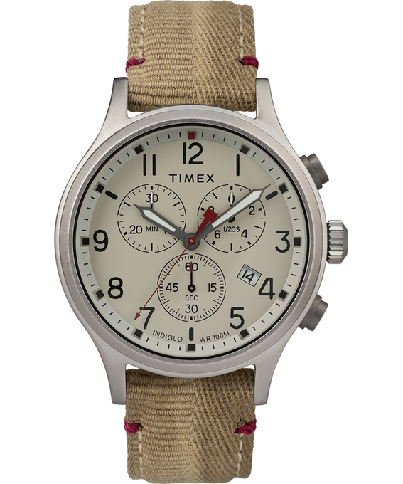Allied Chronograph 42mm Fabric Strap with Red Accent Watch  large