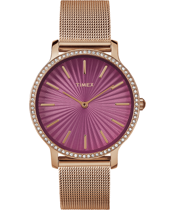 Metropolitan with Swarovski 34mm Stainless Steel Mesh Watch  large