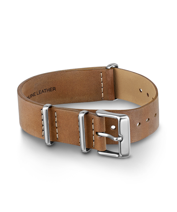 18mm Leather Slip-Thru Double Layer Strap Champagne large
