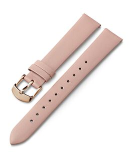 16mm Rose Gold Buckle Leather Strap Pink large