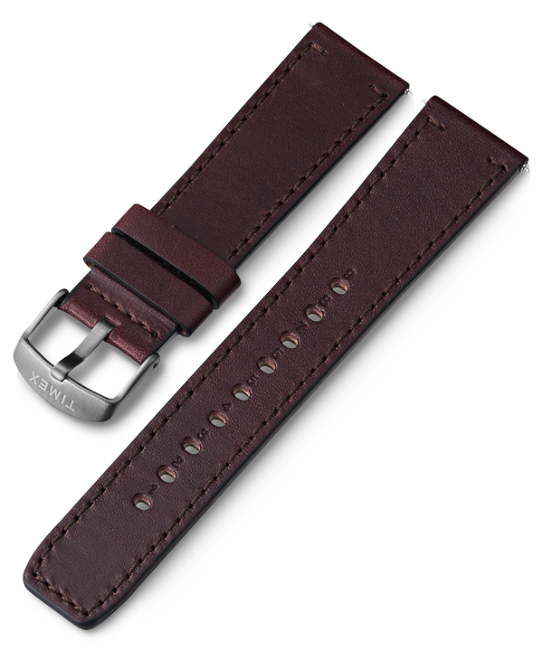 22mm Quick Release Leather Strap Brown large