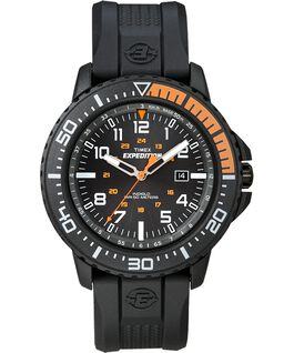 Expedition Uplander 44mm Resin Strap Black/Orange large
