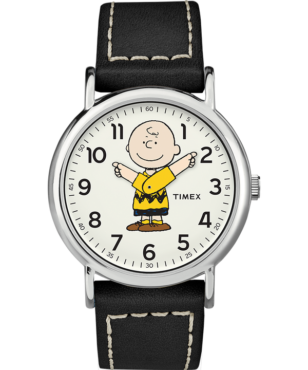 Snoopy 38mm Leather Strap Watch  large