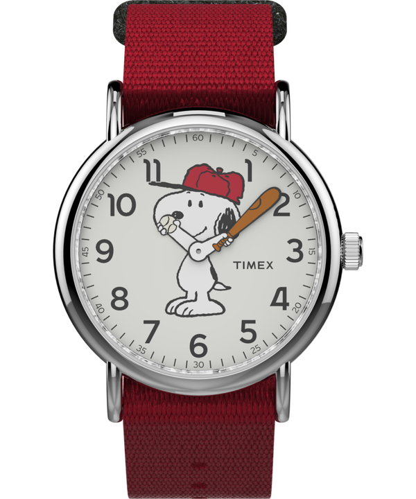 Snoopy 38mm Nylon Strap Watch  large