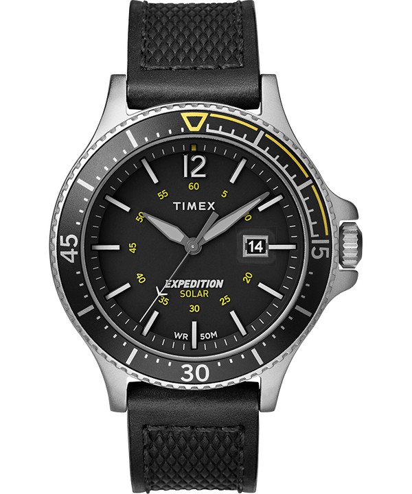 Expedition Ranger Solar 43mm Leather Strap Watch  large