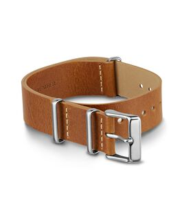 20mm Slip Thru Leather Strap Tan large
