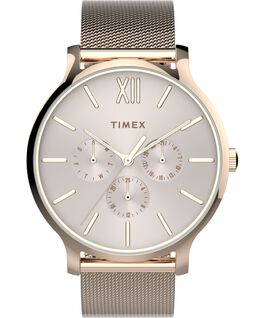 Transcend Multifunction 38mm Stainless Steel Mesh Band Watch Rose-Gold-Tone/Pink large