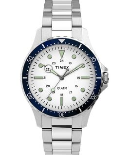 Navi XL41mm Stainless Steel Bracelet Watch Stainless-Steel/White large