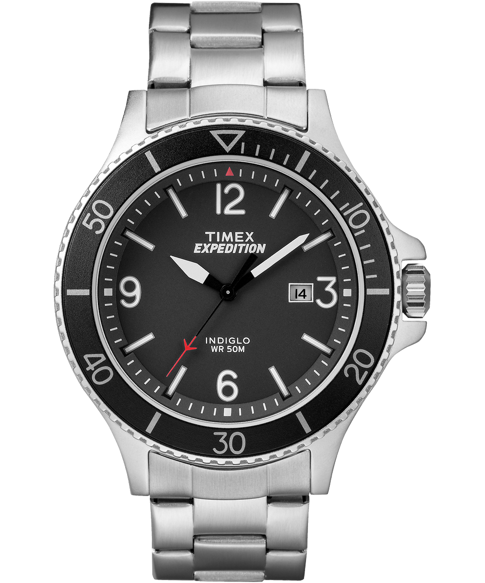 expedition ranger 43mm stainless steel watch timex rh timex ca timex expedition instructions wr50m Timex Indiglo WR 50M Watch