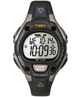 IRONMAN Classic 30 Full-Size 43mm Resin Strap Watch Gray/Black large