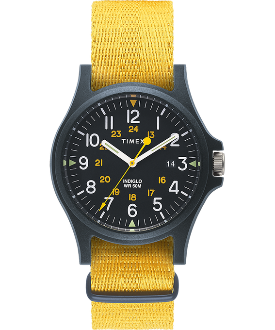 Acadia 40mm Fabric Strap Watch Blue/Yellow large