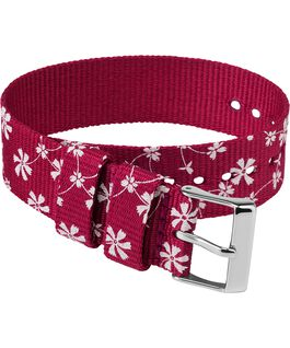 20mm Fabric Single Layer Slip Thru Strap with Floral Pattern Pink large