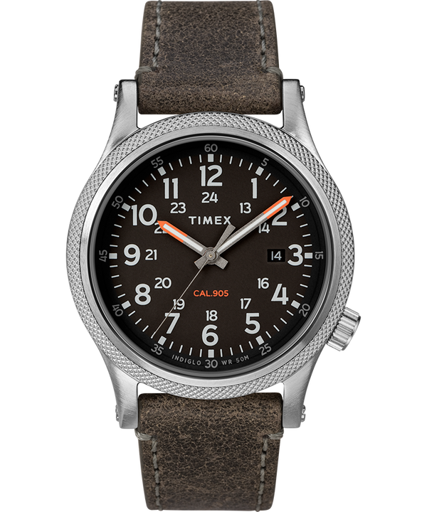 Allied LT 40mm Leather Strap Watch  large