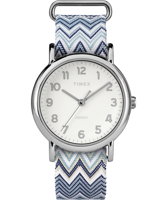 Weekender Chevron 38mm Fabric Strap Watch