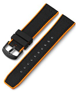 22mm Quick Release Silicone Strap Black large