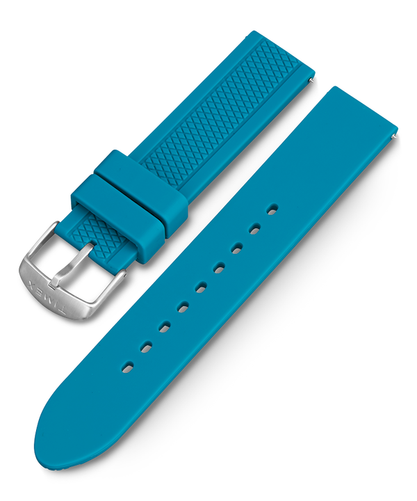 21mm Quick Release Silicone Strap Teal large