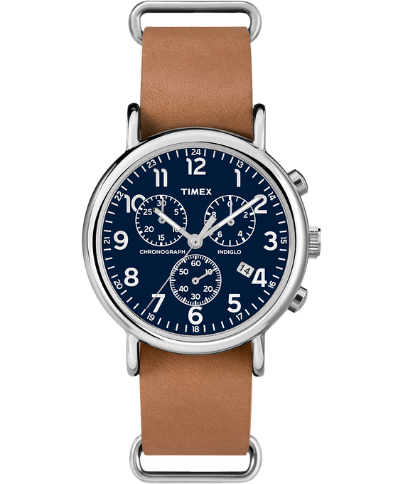 Weekender Chrono 40mm Leather Watch  large