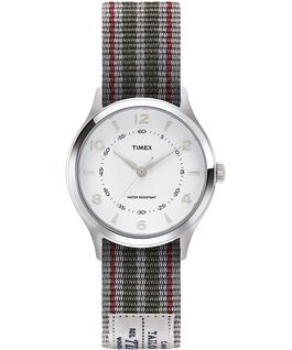 Whitney Village 36mm Reversible Grosgrain Strap Watch-1 Stainless-Steel/White large