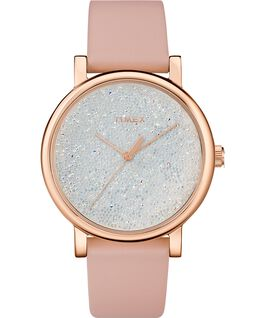 Crystal Opulence with Full Swarovski Dial 38mm Leather Strap Watch Pink/White large