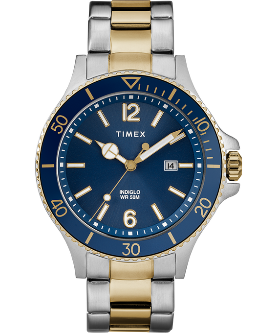 Harborside 42mm Bracelet Watch Two-Tone/Blue large