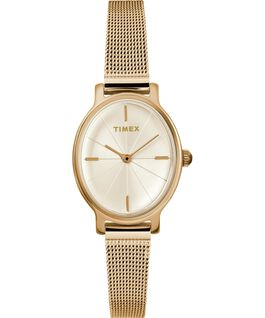 Milano Oval 24mm Stainless Steel Mesh Bracelet Watch Gold-Tone large