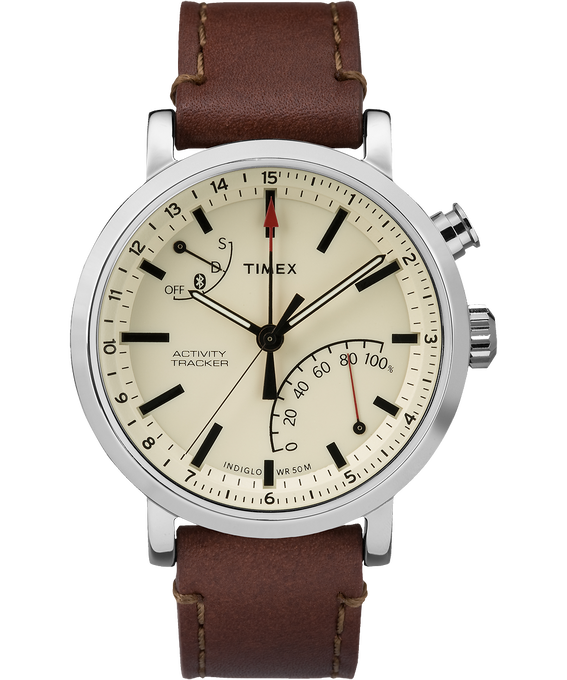 iQ+ Move Metro 42mm Leather Watch  large