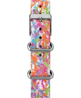 16mm Color Rush Patterned Nylon Strap White large