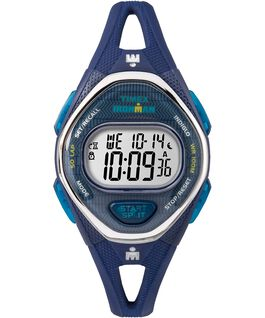 IRONMAN Sleek 50 Mid-Size 34mm Silicon Strap Watch Blue/Stainless-Steel large
