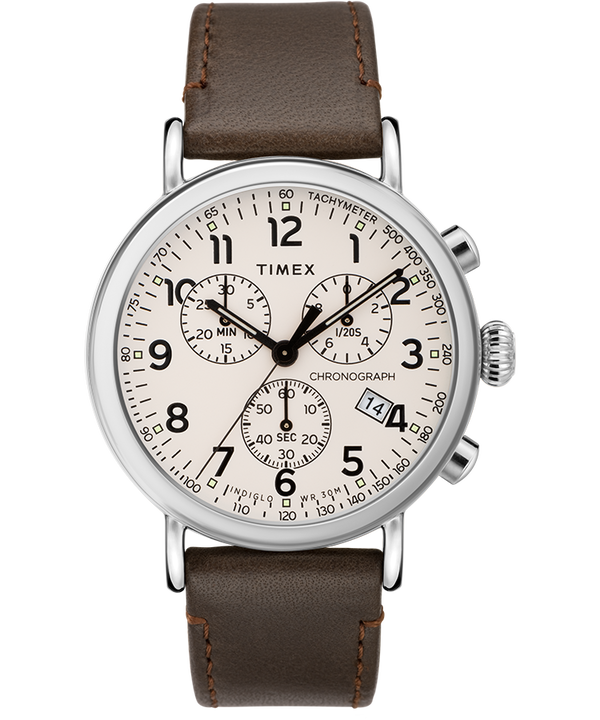 Standard Chronograph 40mm Leather Strap Watch  large