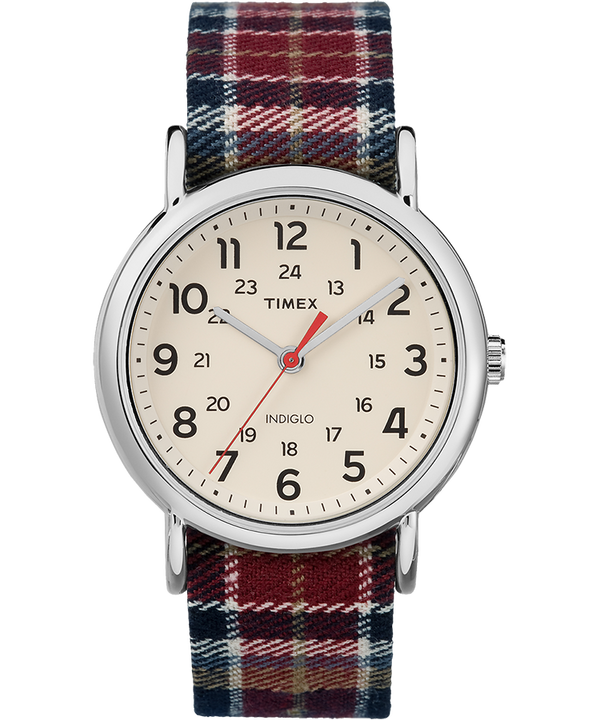 Weekender Plaid 38mm Fabric Strap Watch  large