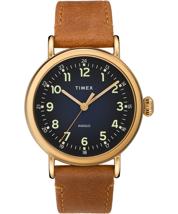 Standard 40mm Leather Strap Watch  large
