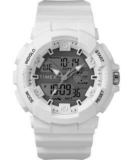 The HQ DGTL 50MM Resin Strap Combo Watch White/Silver-Tone large