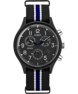 MK1 Supernova Chronograph 42mm Fabric Strap Watch Black large