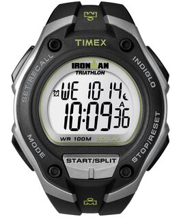 IRONMAN Classic 30 Oversized 43mm Resin Strap Watch Silver-Tone/Black large