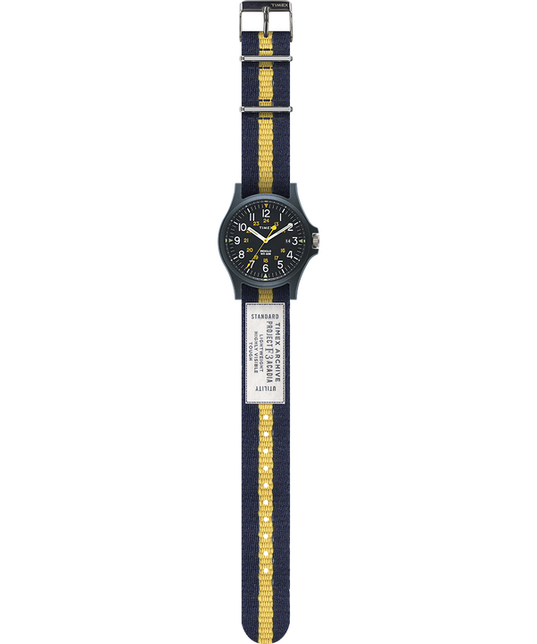 Acadia 40mm Fabric Strap Watch Blue large
