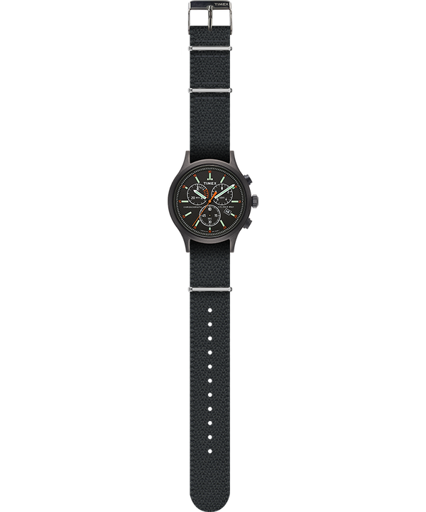 Allied Chronograph 42mm Fabric Strap Watch Black/Gray large