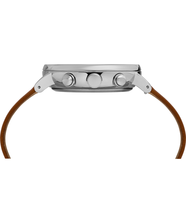 Fairfield Chronograph Supernova™ 41mm Leather Strap Watch Brown/Silver large
