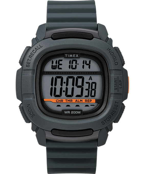 Boost 47mm Silicone Strap Watch Gray/Silver-Tone large
