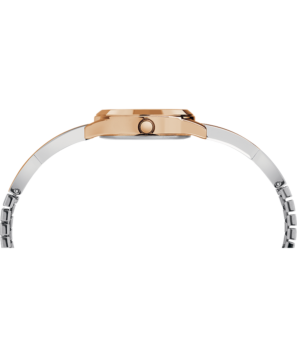Fashion Stretch Bangle 25mm Expansion Band Watch Rose-Gold-Tone/Two-Tone/Silver-Tone large