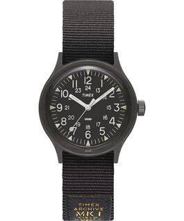 MK1 Military 36mm Grosgrain Strap Watch Black large
